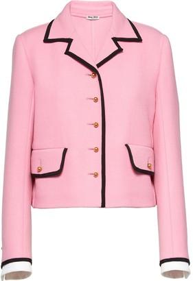 Miu Miu Contrast Trim Cropped Jacket