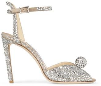 Jimmy Choo Sacora 100 Crystal-Embellished Sandals