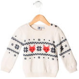 Petit Bateau Boys' Patterned Wool Sweater