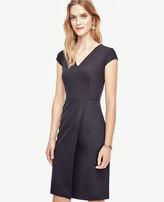 Ann Taylor Tropical Wool V-Neck Sheath Dress