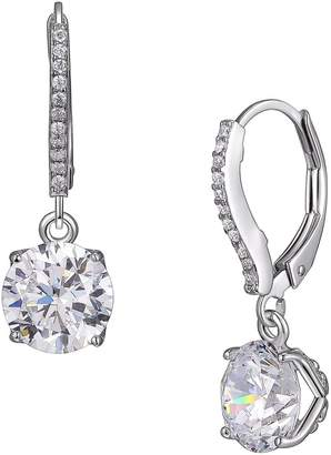 Reign PAJ-Bridal Rhodium-Plated Sterling Silver Micro Pave Crystal Earrings