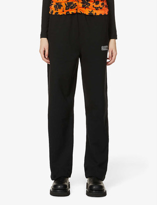 Ganni Isoli recycled cotton and recycled polyester-blend jogging bottoms