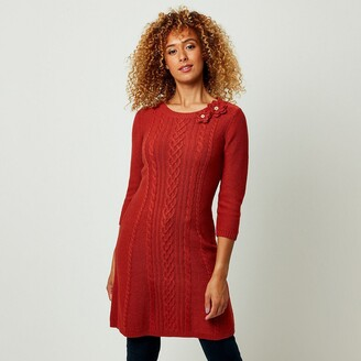 Joe Browns Cable Knit Dress with Long Sleeves