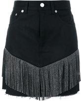 Saint Laurent fringed mini skirt