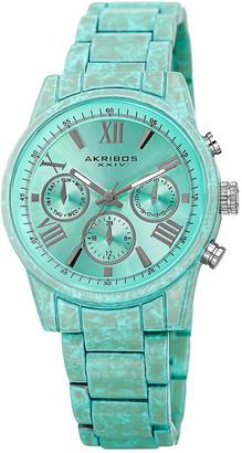Akribos XXIV Women's Stainless Steel Porcelain Coated Watch