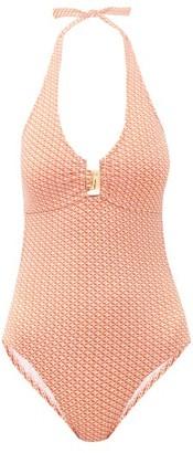 Melissa Odabash Sahara Tile-print Halterneck Swimsuit - Light Pink
