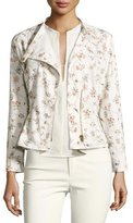 Isabel Marant Floral Tacked Moto Jacket, Ecru