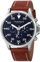 Akribos XXIV Unisex Brown Strap Watch-A-773ssbu
