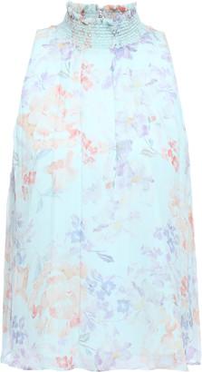 Alice + Olivia Water Petal Shirred Georgette Top