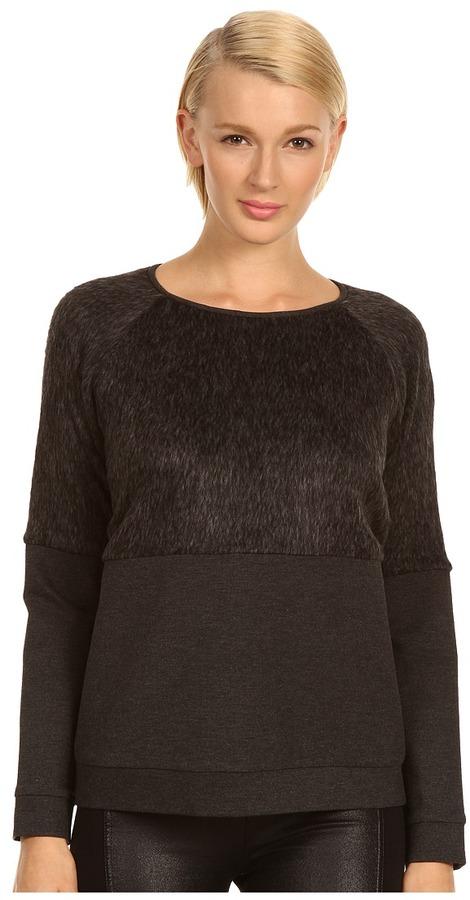 Tibi Fur Tops Sweatshirt (Heather Grey) - Apparel