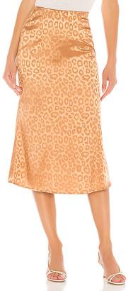 J.o.a. Woven Bias Cut Midi Skirt