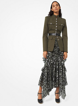 Michael Kors Cotton-Twill Military Jacket