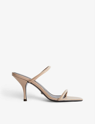 Reiss Magda backless heeled leather sandals