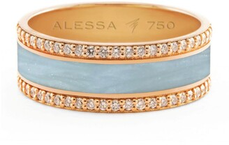Alessa White Gold and Diamond Spectrum Border Ring