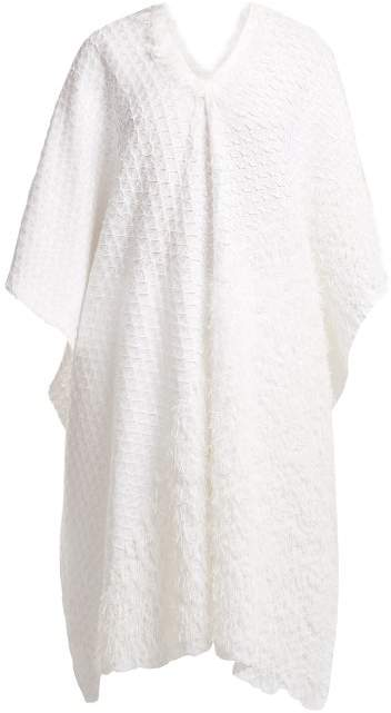 Issey Miyake Retrospect 2 Fringe Embellished Pleated Kaftan - Womens - White