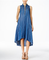 INC International Concepts Denim High-Low Trapeze Dress, Only at Macy's