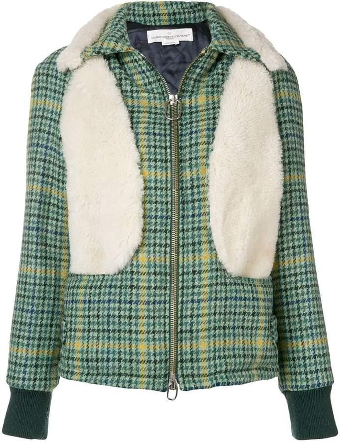Golden Goose houndstooth zipped jacket