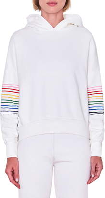 Sundry Rainbow Stripe Hoodie