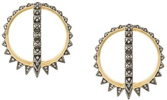Noor Fares 18kt gold Krystallos Merkaba Creoles earrings