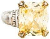 Judith Ripka Diamond & Canary Crystal Cocktail Ring