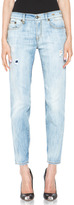 R 13 Relaxed Skinny Jean in Faded Torn
