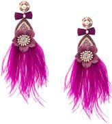 Ranjana Khan feather drop earrings