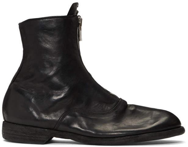 Guidi ブラック ホース Soldato ブーツ