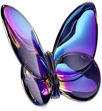 Baccarat Blue Scarabe Crystal Butterfly