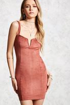 Forever 21 Faux Suede Bodycon Dress