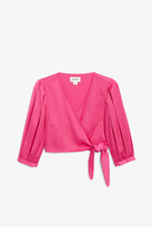 Monki Cropped wrap blouse