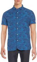 Jachs Camo-Print Cotton Short Sleeve Shirt