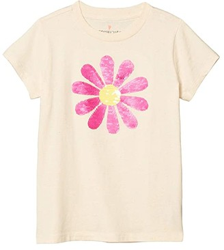 crewcuts by J.Crew Short Sleeve Flip Sequin Daisy Graphic Tee (Toddler/Little Kids/Big Kids) (Sequin Daisy) Girl's Clothing