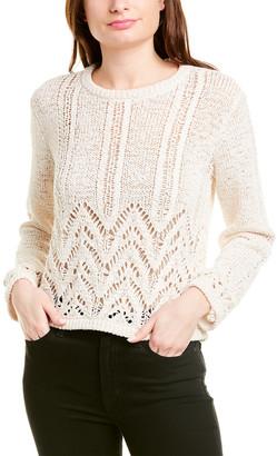 BCBGMAXAZRIA Mixed-Stitch Pullover