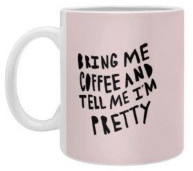 Deny Designs Allyson Johnson Bring Me Coffee Pink Coffee Mug