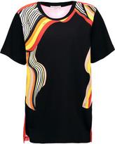 Emilio Pucci Printed cotton-jersey and silk-chiffon T-shirt