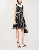 Alexander McQueen Patterned woven mini dress