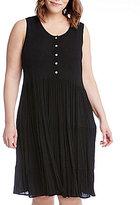 Karen Kane Plus Gauze Tiered Tank Dress
