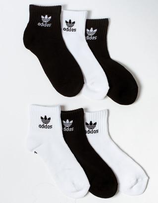 adidas 6 Pack Originals Boys Quarter Socks