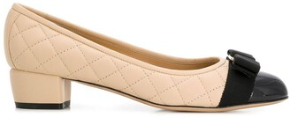 Salvatore Ferragamo Quilted Two-Tone Pumps