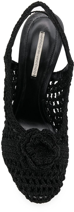 Thumbnail for your product : Marco De Vincenzo Crochetted Flower Sandals