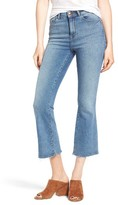 DL1961 Women's Jackie Trimtone High Waist Crop Flare Jeans