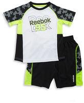 Reebok Boys 2-7 Colorblocked Logo Tee and Shorts Athletic Set
