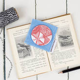 Grace & Favour Home Handbag Mirror Hexie Doodles Coral Or Taupe
