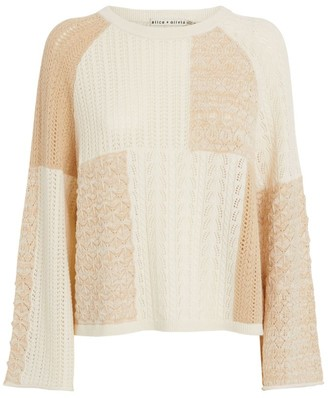Alice + Olivia Martha Pointelle-Knit Sweater