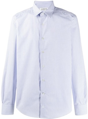 Lanvin Spread Collar Striped Shirt