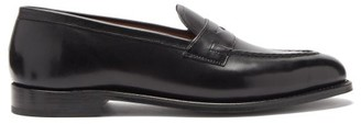 Grenson Lloyd Leather Penny Loafers - Mens - Black