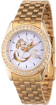 DISNEY PRINCESS Disney Princess Ariel The Little Mermaid Womens Gold Tone Bracelet Watch-Wds000168