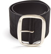 Isabel Marant Wide calf-hair waist belt