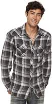 Rock & Republic Men's Roll-Sleeve Plaid Flannel Button-Down Shirt