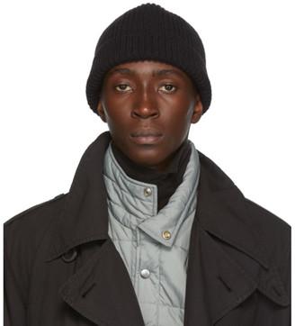 Lemaire Black Wool Rib Hat